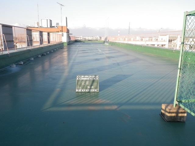 鎌倉小学校屋上緑化(芝生)工事の施工前写真