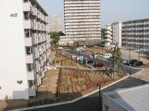 都営住宅の植栽工事 施工事例