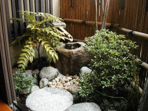 空いてるスペースを有効利用した坪庭
