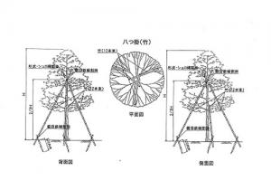 竹を材料とした『八つ掛支柱』