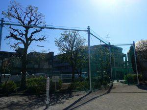 公園工事の事例紹介その1 防球ネットの取替