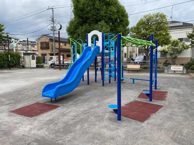 遊具の取替工事完了 葛飾区の公園での作業事例